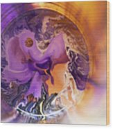 Funnel Of Time Wood Print