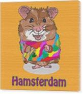 Funny Design Illustration Puns Hamsterdam The Wire Wood Print