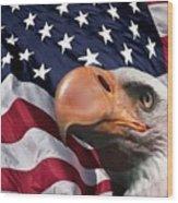 Funny Flag Wood Print