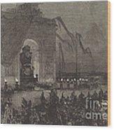 Fun?railles De Victor Hugo.  La Veill?e Wood Print
