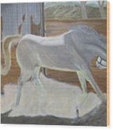 furious Horse Wood Print