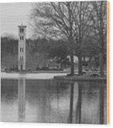 Furman Bell Tower 3 Bw Wood Print