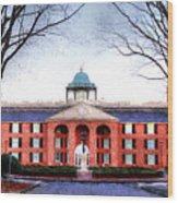 Furman University Judson Hall  Wood Print