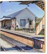 Furnace Sidings Railway Station Wood Print