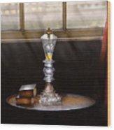 Furniture - Lamp -  The Oil Lamp Wood Print