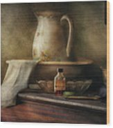 Furniture - Table - The Water Pitcher Wood Print by Mike Savad
