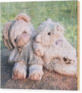 Furry Friends Wood Print