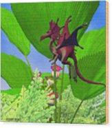 Fury Flying Dragon Wood Print