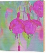 Fuchsia Flower Abstract Wood Print