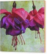 Fuschia Wood Print