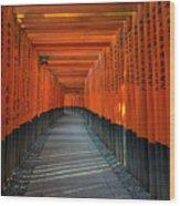Fushimi Inari Taisha Shrine In Kyoto, Japan Wood Print
