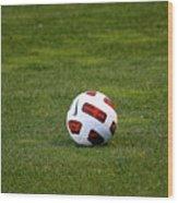 Futbol Wood Print by Laddie Halupa