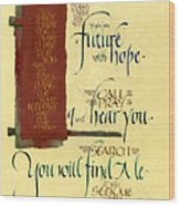 Future Hope I Wood Print by Judy Dodds