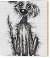 Fuzzy Dog Wood Print