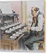 G. Cleveland Cartoon, 1893 Wood Print