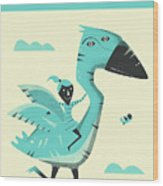 G Is For Goose Wood Print