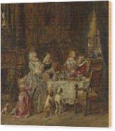 Gabriel Eugene Isabey   Grandfathers Birthday Wood Print
