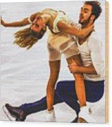 Gabriella Papadakis And Guillaume Cizeron Wood Print