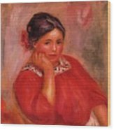 Gabrielle In A Red Blouse 1896 Wood Print