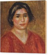 Gabrielle In A Red Blouse 1913 Wood Print