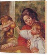 Gabrielle Jean And A Little Girl Wood Print