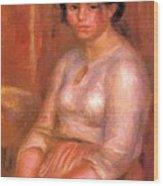 Gabrielle Seated Wood Print