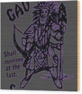 Gad At The Last-purple Trim Wood Print