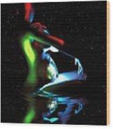 Gaia Bathing In A Pool Of Stars Wood Print