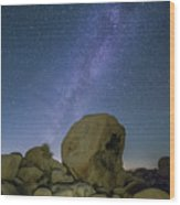 Galactic Desert Wood Print