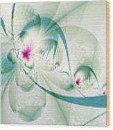 Galactic Flower Wood Print