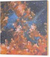 Galactic Storm Wood Print