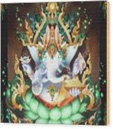 Galactik Ganesh Wood Print by George Atherton