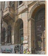 Galata Street Scene Wood Print