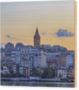 Galata Tower In The Morning. Wood Print