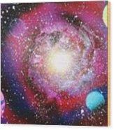 Galaxy Wood Print