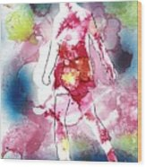Galaxy Girl Wood Print