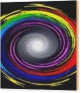 Galaxy In Chakra Colors Wood Print