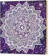 Galaxy Mandala Wood Print