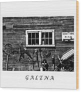 Galena Antiques Wood Print