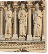 Galerie Des Rois Catherdrale Notre Dame De Paris France Wood Print