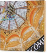 Galeries Lafayette Inside Art Wood Print
