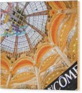 Galeries Lafayette Inside Art Wood Print