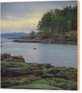 Galiano Island Inlet Wood Print