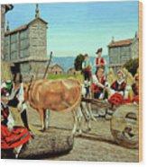 Galicia Medieval Wood Print