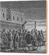 Galileo Demonstrates Telescope, 1609 Wood Print