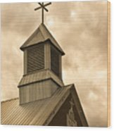 Galisteo Church, New Mexico Wood Print