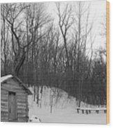Galland School Outside Of Montrose Iowa Wood Print