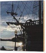 Galleon Wood Print