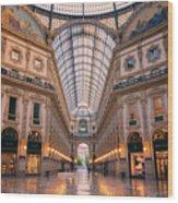 Galleria Milan Italy II Wood Print