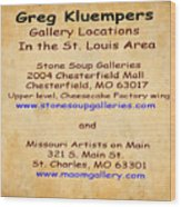 Gallery Locations In The St. Louis Area Wood Print